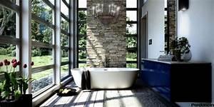 salle de bain zen baignoire nature avec vue sur le jardin With salle de bain design avec arbre décoratif jardin