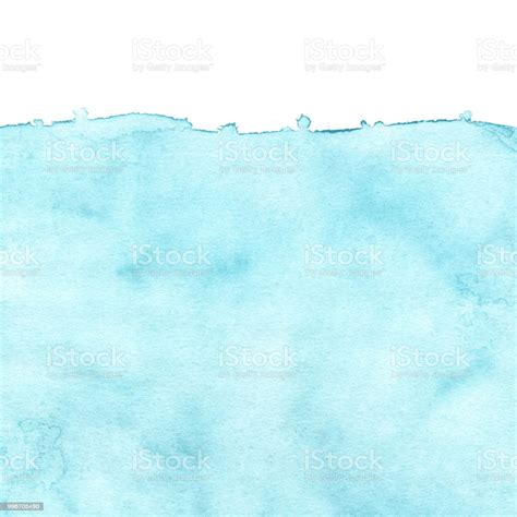 Abstract Blue Color Watercolor Background Hand Painted