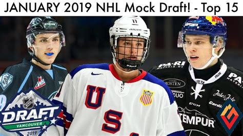 January 2019 Nhl Mock Draft! (top 15 Prospect Rankings
