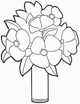 Coloring Bouquet Flower Pages Flowers Printable Preschool Sheets Template Comments Library Clip Coloringhome sketch template