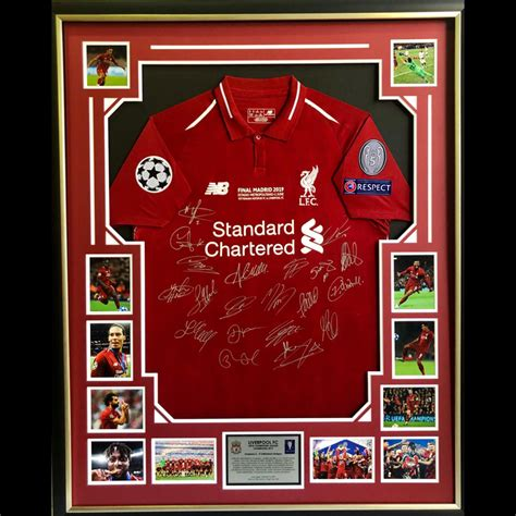 Liverpool 2019 UEFA Champions League Final Signed Jersey ...