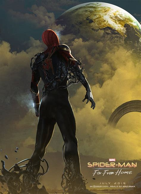 spider man   home fan poster imagines venoms mcu
