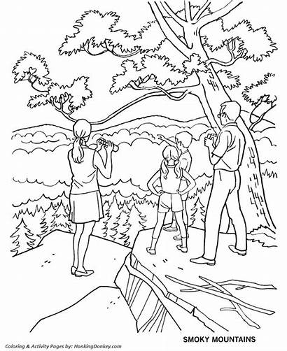 Coloring Mountains Arbor Pages Smoky Parks Park