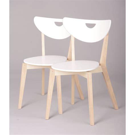 chaise en bois design miliboo chaises design bois et blanc laqué le achat