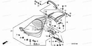 Honda Motorcycle 2010 Oem Parts Diagram For Seat