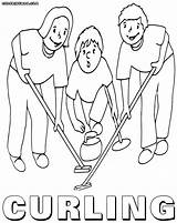 Curling Coloring Pages sketch template