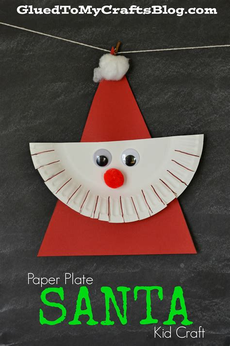 paper plate santa kid craft