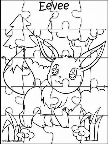 Pokemon Cut Puzzles Puzzle Printable Activities Coloring