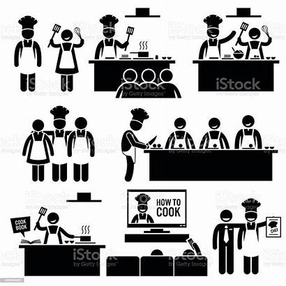 Stick Cooking Figure Chef Class Cook Pictogram