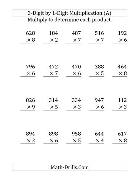 multiplying   digit number    digit number