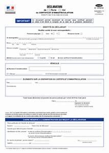 Déclaration De Perte Du Permis De Conduire : cerfa n 13753 01 d claration de perte ou vol de certificat d 39 immatriculation documentissime ~ Medecine-chirurgie-esthetiques.com Avis de Voitures