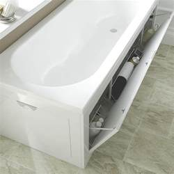 towel storage ideas for small bathrooms cooke lewis gloss white bath front panel departments diy at b q