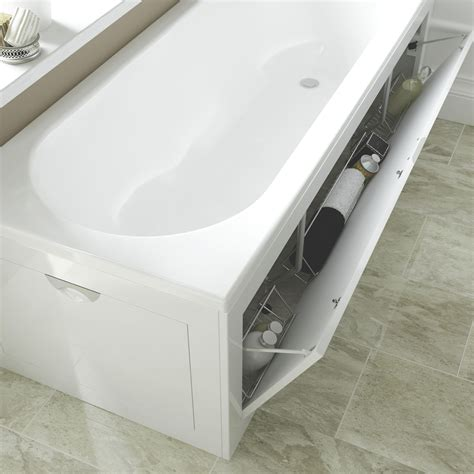 exterior plastic storage cabinets cooke lewis gloss white bath front panel departments