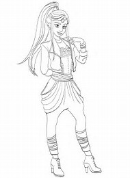 Descendants 2 Coloring Pages Disney