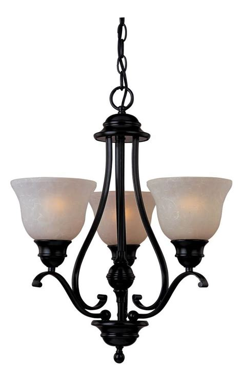 Mini Bronze Chandelier by Maxim Three Light Rubbed Bronze Wilshire Glass Up Mini