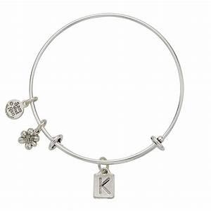 Letter k charm bangle bracelet for Letter k bracelet