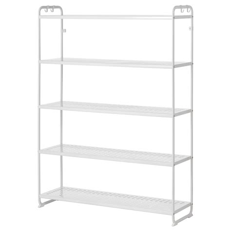 white storage unit ikea mulig shelving unit white 120x34x162 cm ikea