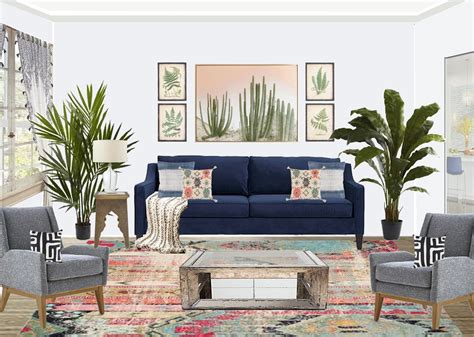 Colorful Living Room Escape by Shop The Look Colorful Bohemian Living Room Interior