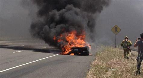 reported lamborghini aventador fire caught  video