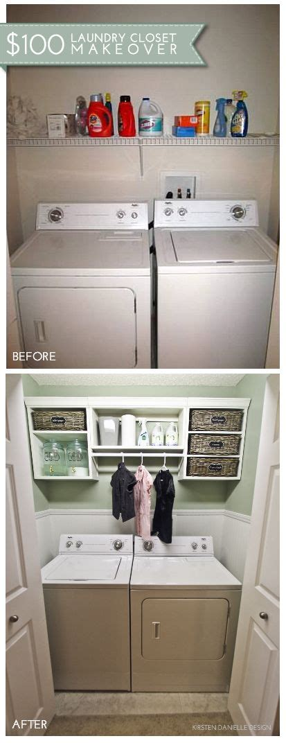 laundry closet ideas  save space   organized