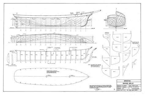 brigantine maggie belle plans model ship builder project pinterest belle