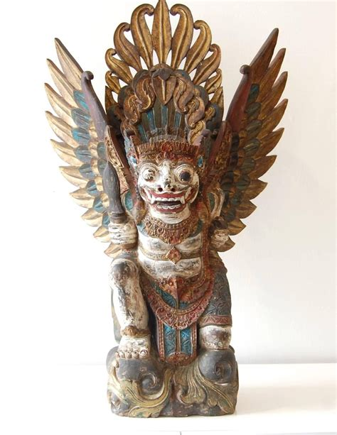 unknown barong wood sculpture bali  century bali