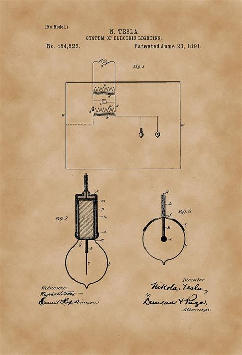 system  electric lighting nikola tesla patent drawing