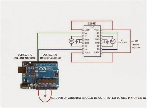 dc motor direction using l293d motor driver and arduino 171 electronics arduino
