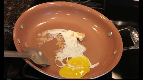 red copper pan failed egg test red copper pan review youtube