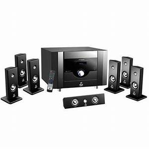 New Pyle 7 1ch Home Theater System 6 Satellite Speakers