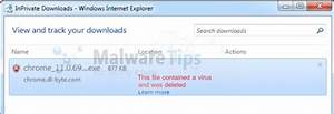 Remove  U0026quot File Contained A Virus And Was Deleted U0026quot   Virus