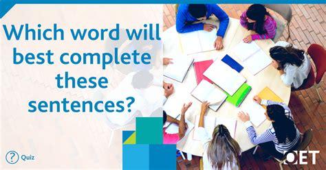 word  complete  sentences
