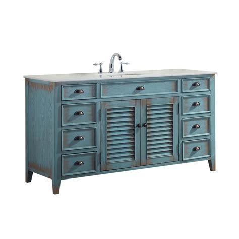 blue vanity top palm 60 in w x 21 75 in d vanity in distressed