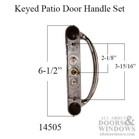 keyed patio door handle set center key position choose