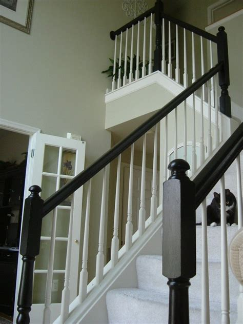 oak banister rails painted the yellowy oak staircase banister around my