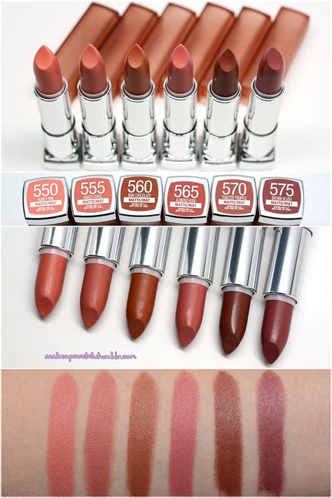 maybelline inti matte lipsticks s w a t c h e s