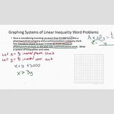 Systems Of Inequality Word Problems (example 2) Youtube