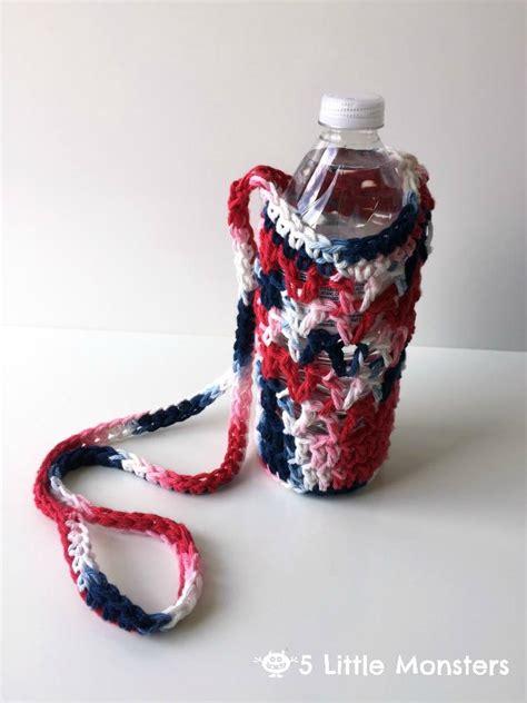 crocheted water bottle holder allfreecrochetcom