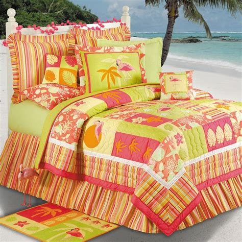 Flamingo Fun Tropical Bedding  For The Home Beach
