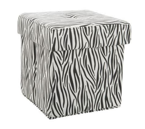 large animal print ottoman animal print faux suede collapsible tufted ottoman by