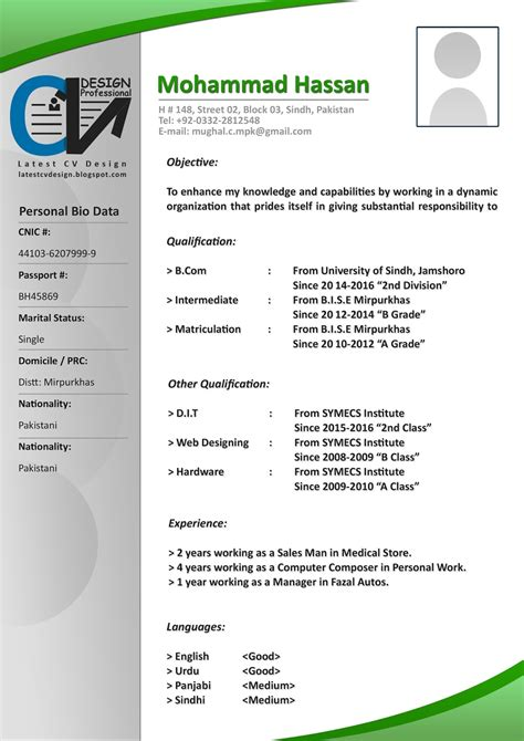 Cv Document Format by Cv Design Cv Formats Free