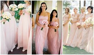 blush pink and gold wedding inspiration one charming day - Blush Pink Bridesmaid Dress