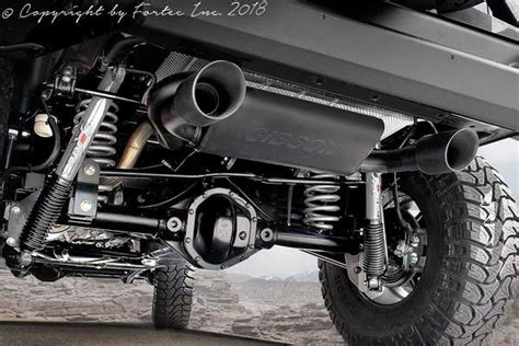 fortec dual exhaust system  gibson    jeep