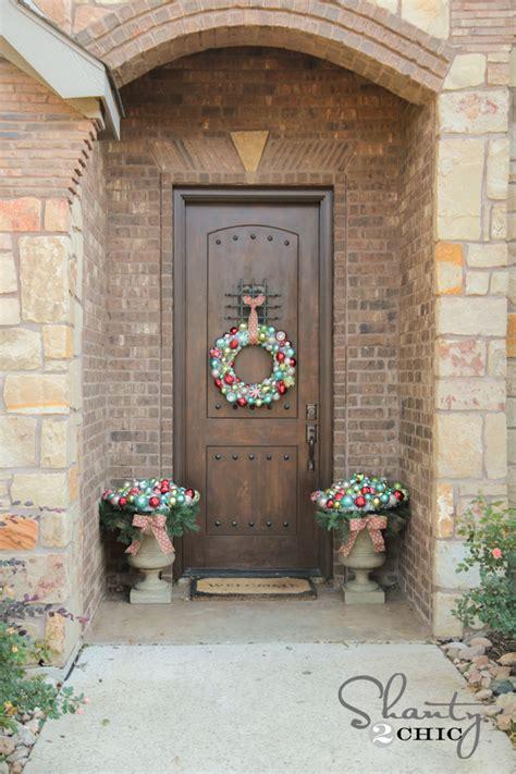 front door christmas decorating shanty  chic