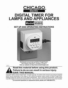 Harbor Freight Tools Digital Timer Product Manual