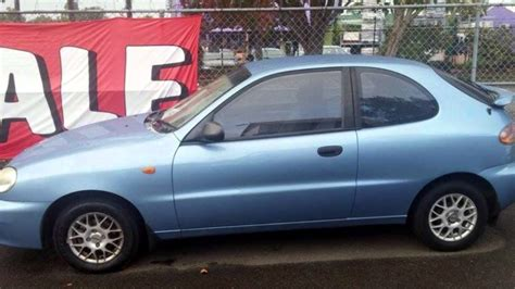 2003 Daewoo Lanos Se Light Blue 4 Speed Automatic