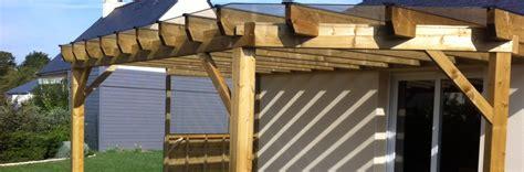 pergolas bois sur mesure menuiseries de l ouest abri de jardin pergola carport et garage en bois de qualit 233