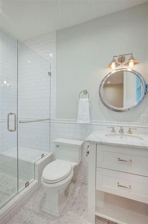 ideas  subway tile showers  pinterest white