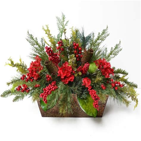 floral home decor pine  berry christmas floral