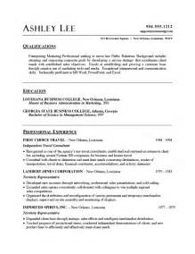 marketing resume qualifications summary marketing resume template